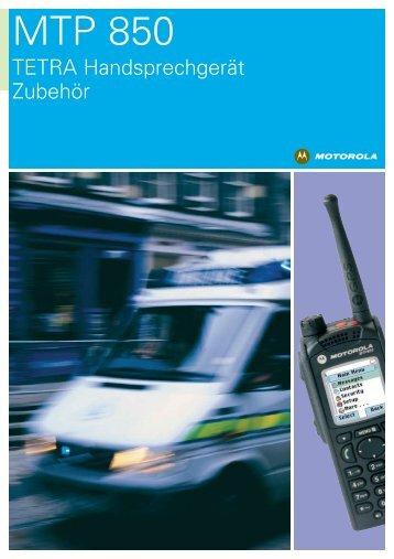 Motorola MTP 850  Zubehör - Soeffing-Boesner GmbH