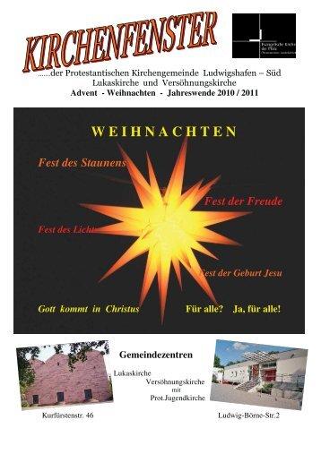 Winter 2010 - Prot. Kirchengemeinde Ludwigshafen Süd