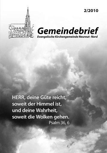 Gemeindebrief - Kirchengemeinde Neureut-Nord
