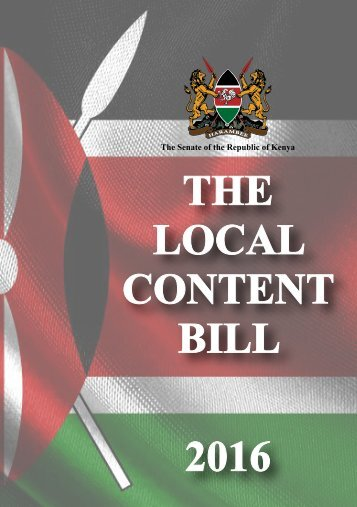 THE LOCAL CONTENT BILL 2016