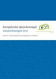 Europäisches Sprachensiegel Auszeichnungen 2011 - DG live