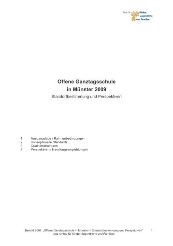 Offene Ganztagsschule in Münster 2009