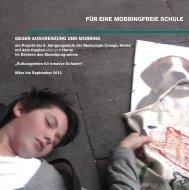FÜR EINE MOBBINGFREIE SCHULE - Kulturagenten