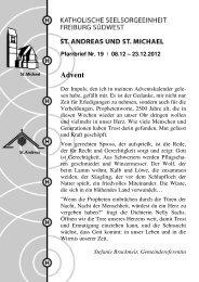 Advent - Sankt Andreas und EBW
