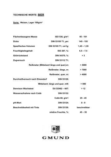 Lichtechtheiten Bier - Papier Union