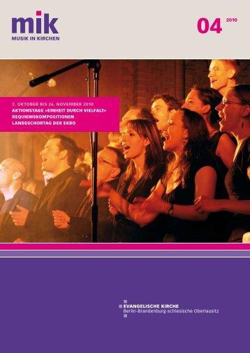 2. OKTOBER BIS 26. NOVEMBER 2010 ... - Musik in Kirchen