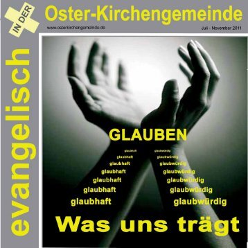 Gemeindebrief Nr. 2/2011 - Evangelische Oster-Kirchengemeinde ...