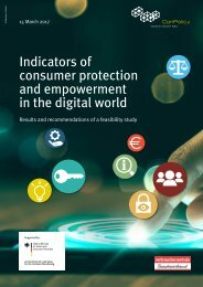 Indicators of consumer protection and empowerment in the digital world