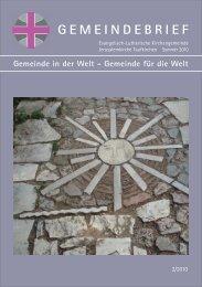 GEMEINDEBRIEF Gemeinde in der Welt - Evang.-Luth ...