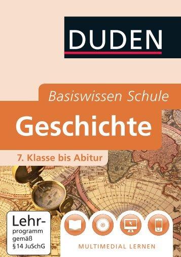 Duden Basiswissen Schule Geschichte - Bibliographisches Institut ...