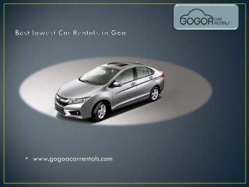 Car Rentals In North Goa