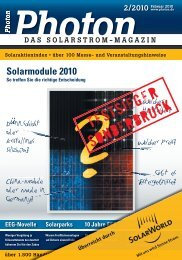 Solarmodule 2010