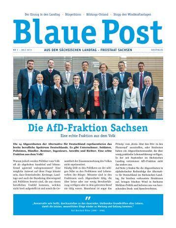 Blaue Post Nr.1 - Juli 2015