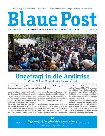 Blaue Post Nr.2 - Oktober 2015