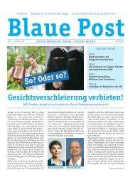 Blaue Post Nr.6 - Oktober 2016