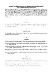 Satzung über die Schulbezirke der Grundschulen der Stadt Cottbus