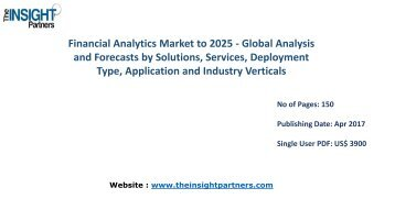 New study: Global Financial Analytics Market Trends, Business Strategies and Opportunities 2025 |The Insight Partners
