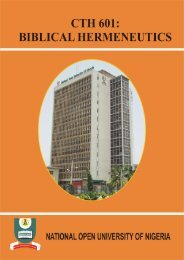 Biblical Hermeneutics - National Open University of Nigeria