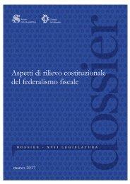 Aspetti di rilievo costituzionale del federalismo fiscale