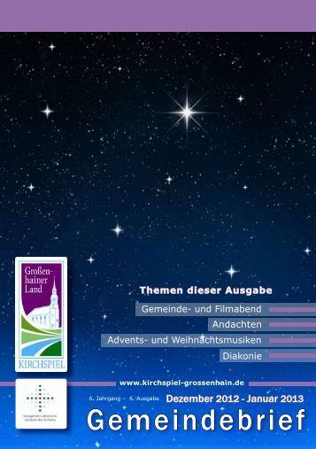 Gemeindebrief für Dezember '12 und Januar '13 - Kirchspiel ...