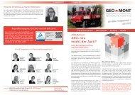 Kundenzeitschrift GEO-MONT 1. Quartal