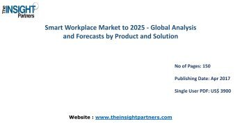 Global Smart Workplace Market Overview, Landscape and New developments 2016-2025 | The Insight Partners