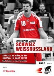 Programmheft Schweiz - Weissrussland