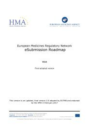 eSubmission Roadmap