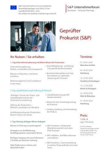 Seminar Führung - S&P - Seminar - Inhouse Training - Mitarbeitergespräche & Rhetorik - S&P Unternehmerforum