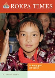 ROKPA Times March 2017 - For strong girls and women