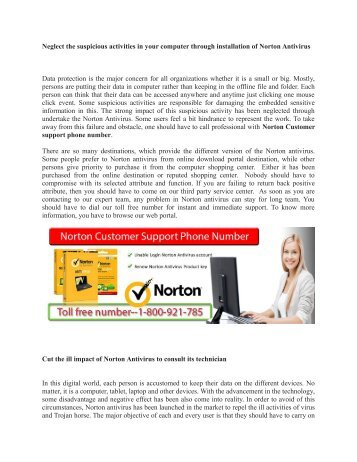 Norton customer care number