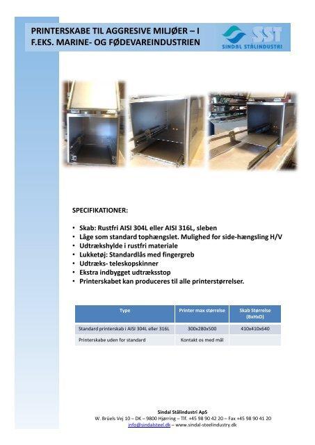Printerskabs brochure