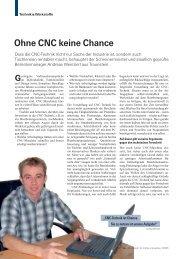Ohne CNC keine Chance
