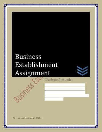 Business Establishment Assignment 21.07