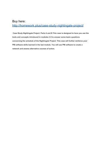 Case Study Nightingale Project