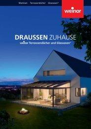 Broschüre weinor Draussen Zuhause für www.riembauer.de