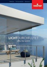 Broschüre weinor Lichtdurchflutet für www.riembauer.de