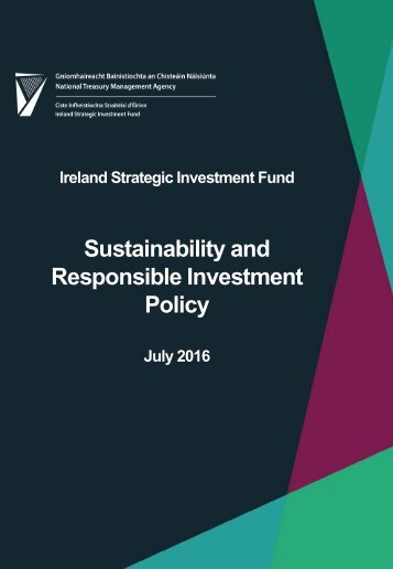 Sustainability and Responsible Investment Policy