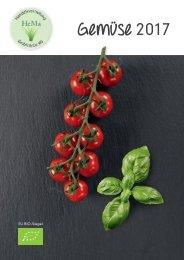 Gemüse Katalog 2017