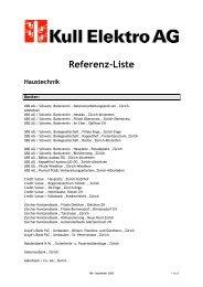 Referenz-Liste - KULL ELEKTRO AG