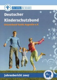 Jahresbericht 2007 - Kinderschutzbund Sankt Augustin