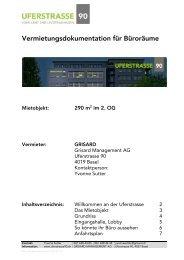 Objektbeschriebe Vermietung - GRISARD AG