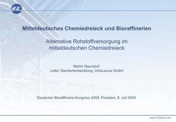 Mitteldeutsches Chemiedreieck und Bioraffinerien - biorefinica