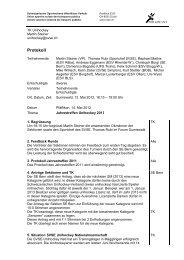 Protokoll - SVSE Schweiz. Sportverband öffentlicher Verkehr
