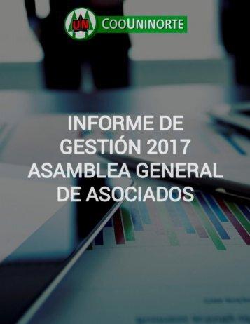 INFORME DE  GESTIÓN 2017 ASAMBLEA GENERAL DE ASOCIADOS