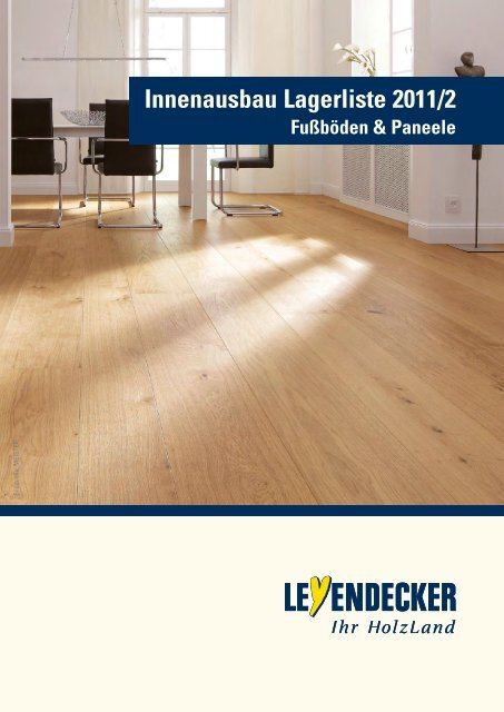 Innenausbau Lagerliste 2011/2 Fußböden & Paneele