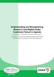 Understanding and Strengthening Women's Land ... - Land Portal