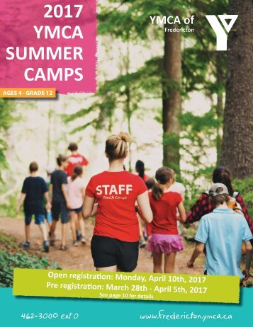 2017 YMCA SUMMER CAMPS