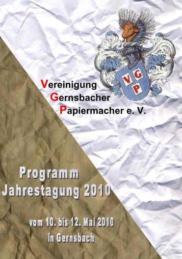 Programm Jahrestagung 2010