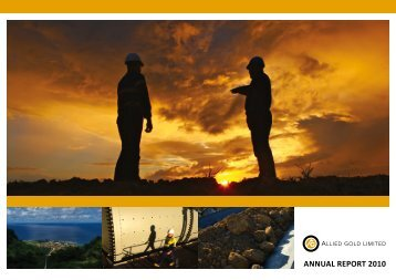 ANNUAL REPORT 2010 - St Barbara Limited